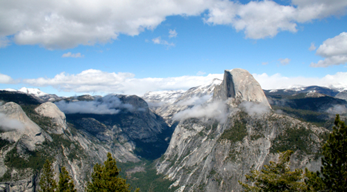 View over Half Dome in Yosemite National Park.