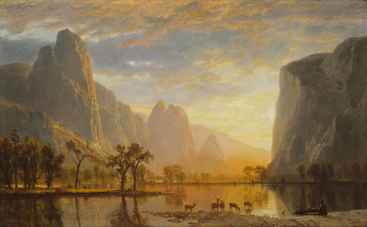 Valley of the Yosemite, Painting by Albert Bierstadt (1830–1902). Image in the public domain.