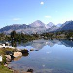 Marie Lake from the John Muir Trail.
