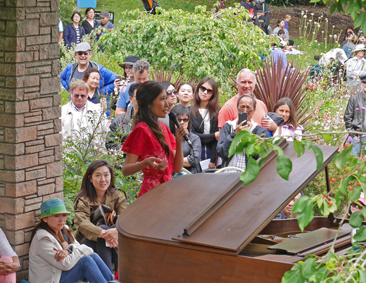 Flower Piano, San Francisco Botanical Garden. Photo by Christine Sculati.